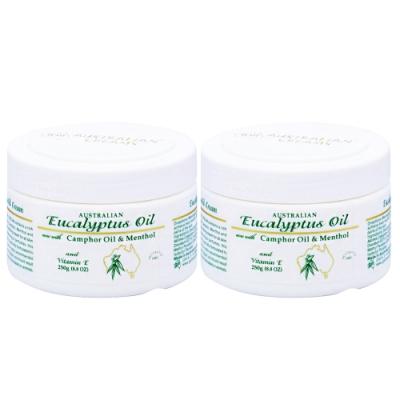 G&M Eucalyptus OilCream尤佳利精油乳霜250g2入+隨機100g1入