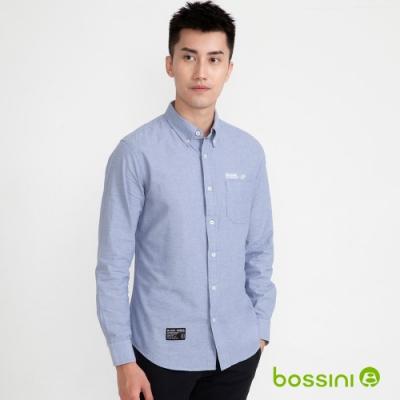 bossini男裝-牛津襯衫02藍色