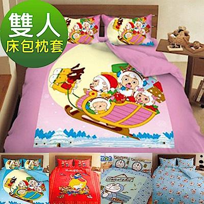 La Veda 卡通雙人三件式床包枕套組 多款任選