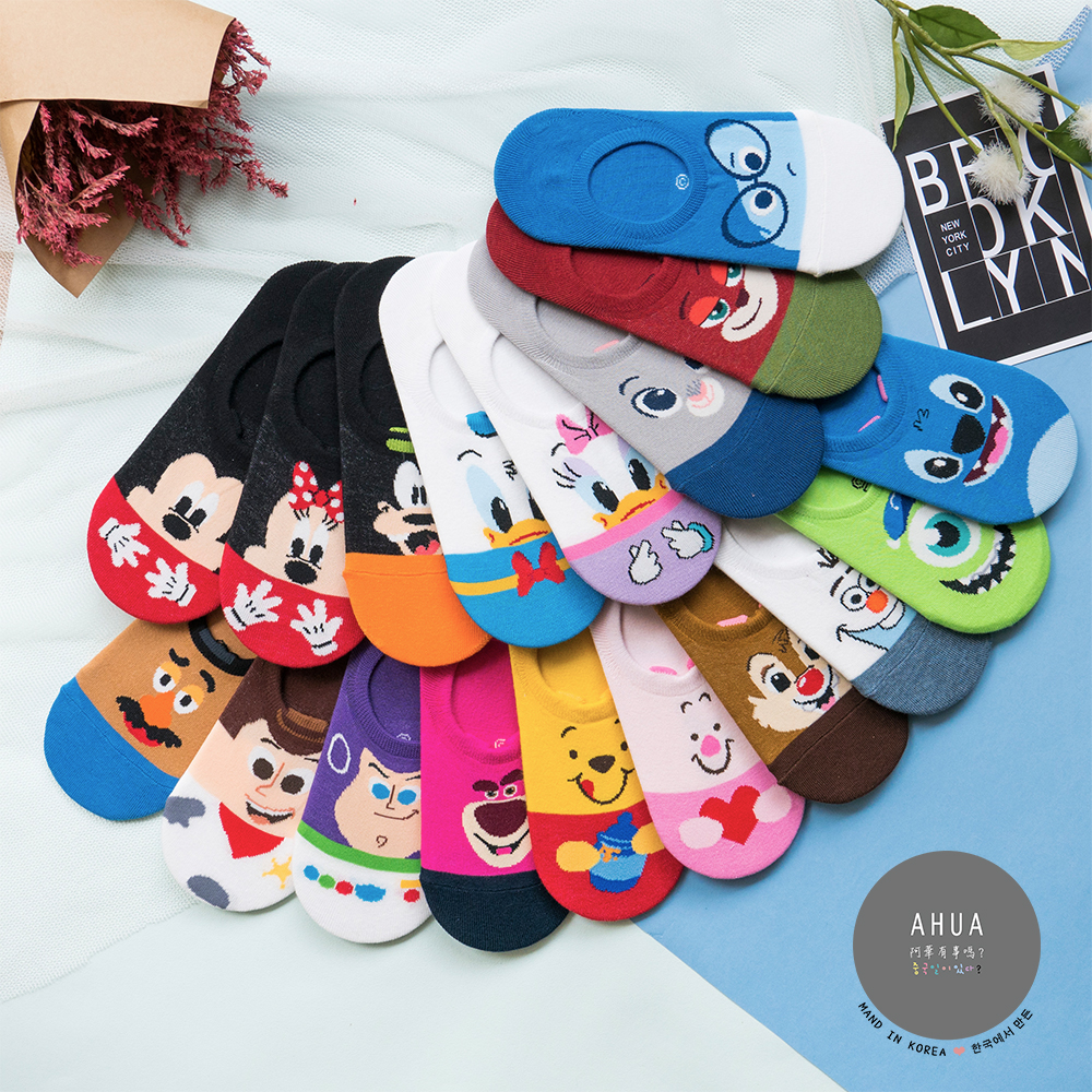 阿華有事嗎 韓國襪子 迪士尼立體耳朵隱形襪 韓妞必備少女襪 正韓百搭純棉襪
