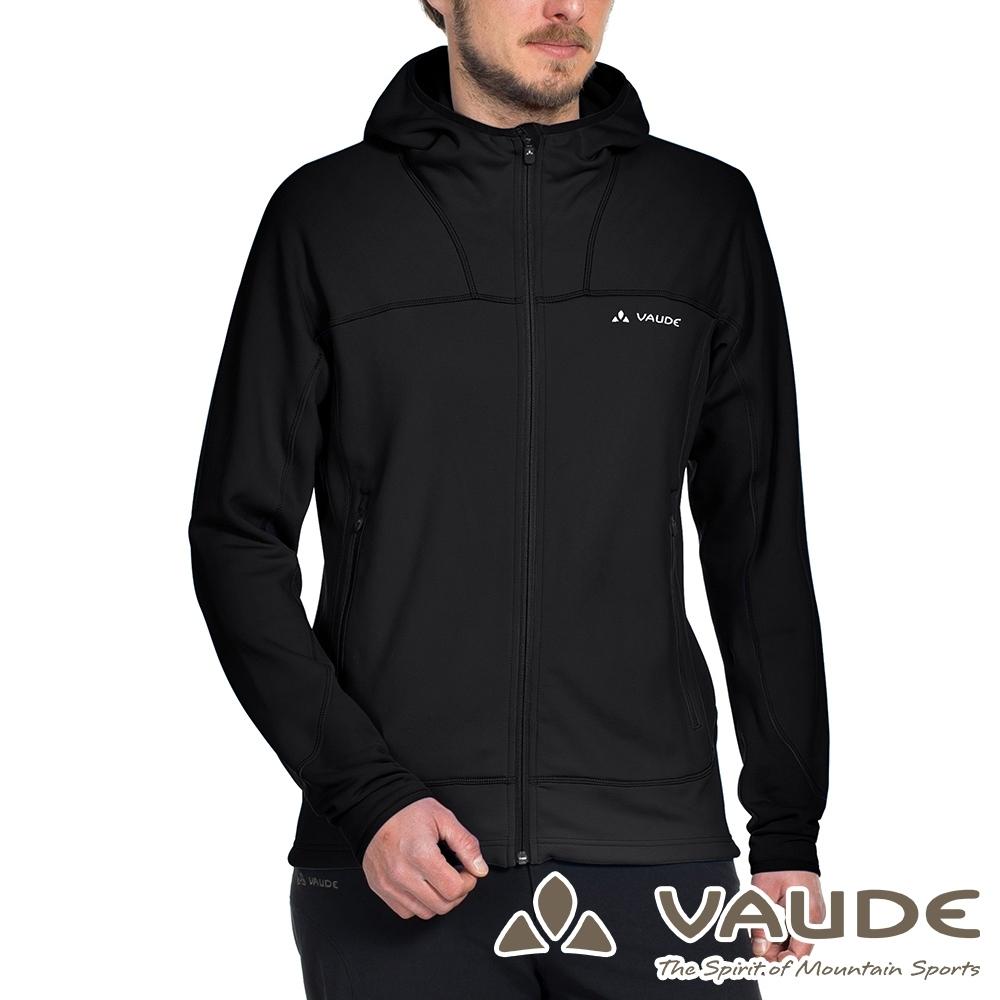 【德國 VAUDE】男款抗風內層刷毛保暖連帽彈性休閒外套VA-05749黑