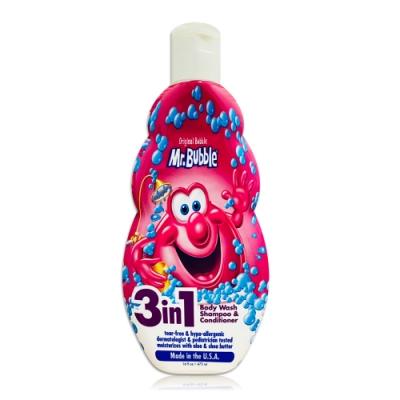 美國 泡泡先生 Mr.Bubble 三合一泡泡洗髮沐浴乳16oz