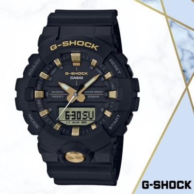 CASIO卡西歐 G-SHOCK玫瑰金潮流雙顯錶(GA-810B-1A9)/48.6mm