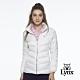 【Lynx Golf】女款保暖輕薄羽絨素面剪接款長袖外套-白色 product thumbnail 2