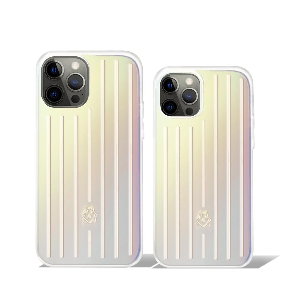 RIMOWA Iridescent Groove Case 透明漸層手機殼 iPhone12/12 Pro/Pro Max