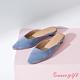 Grace gift-素面方口圓跟穆勒鞋 淺藍 product thumbnail 1