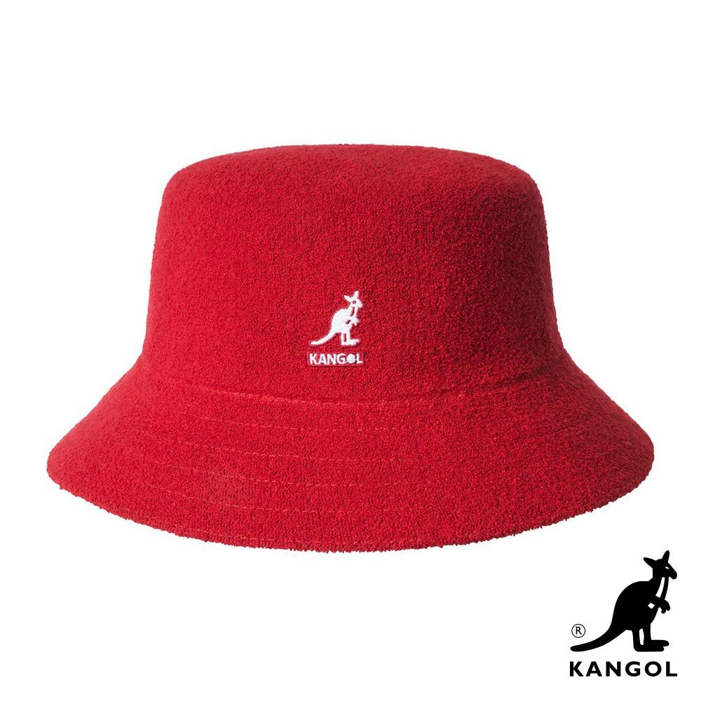 KANGOL -BERMUDA BUCKET 漁夫帽-紅色