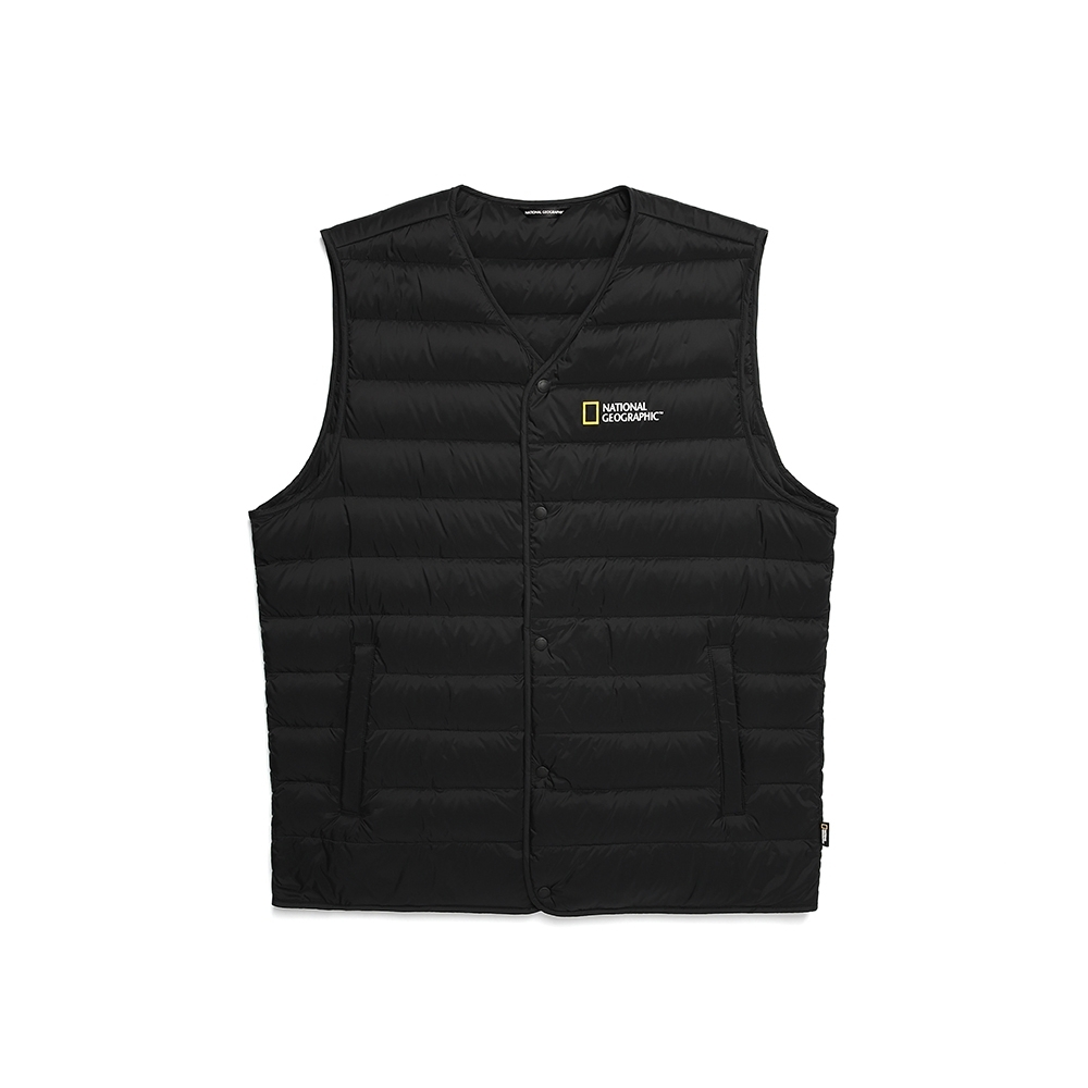 NATIONAL GEOGRAPHIC 男 Calis light goose down vest 羽絨背心 炭黑-N204MDV210198