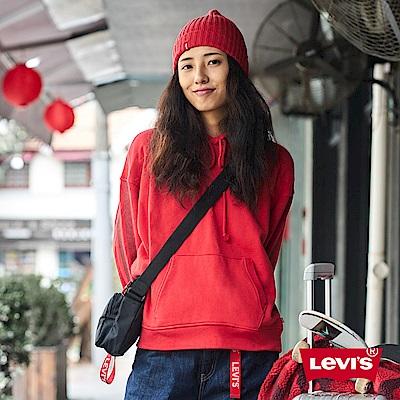 Levis 女款 帽T 紅色