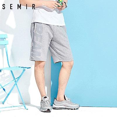 SEMIR森馬-時尚運動彈力棉質印花短褲-男