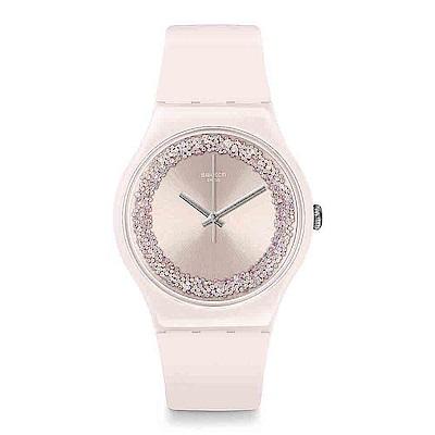 Swatch THINK FUN系列 PINKSPARKLES 粉紅閃耀手錶