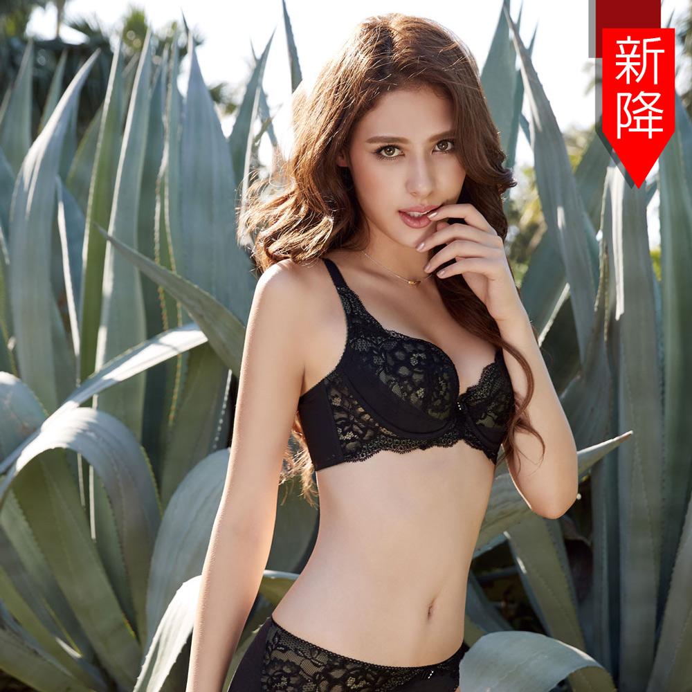 曼黛瑪璉 Hibra大波高脅低脊內衣  E-G罩杯(黑)