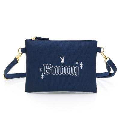 PLAYBOY-萬用包 Bunny兔系列-藍色