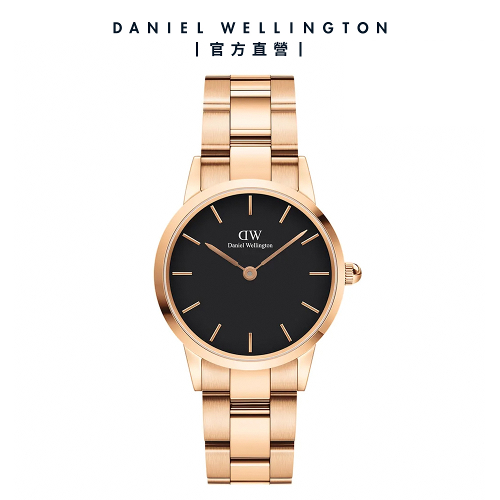 【Daniel Wellington】官方直營 Iconic Link 28mm精鋼錶-特調玫瑰金 DW手錶