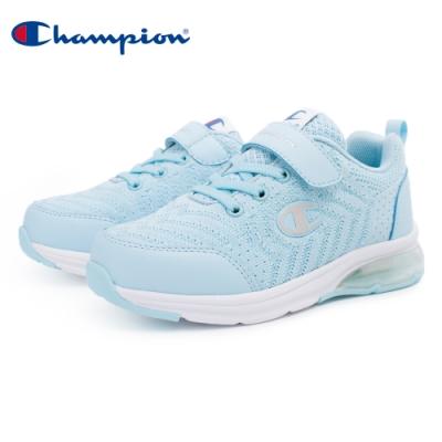 【Champion】ELASTIC NET 氣墊運動童鞋 飛織網布 大童鞋-水藍(KSUS-0367-62)