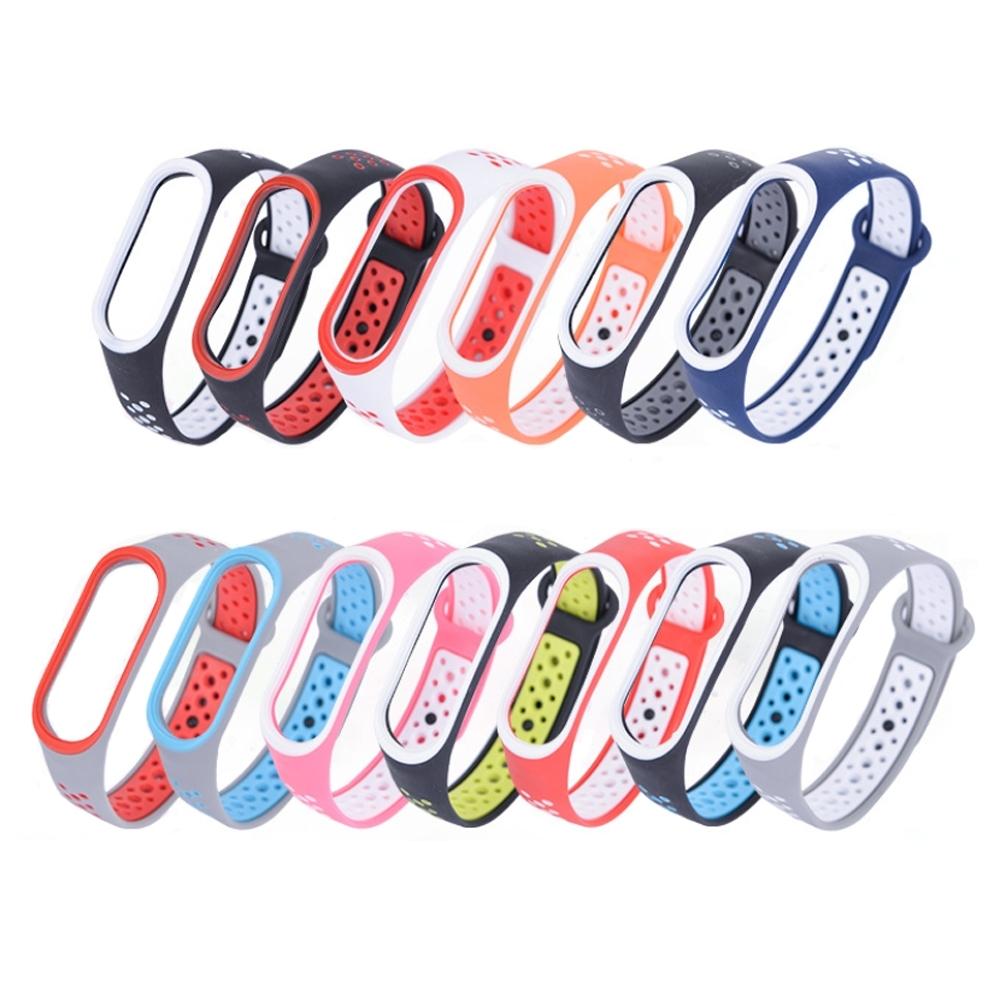 小米手環4運動雙彩雙色撞色腕帶錶帶