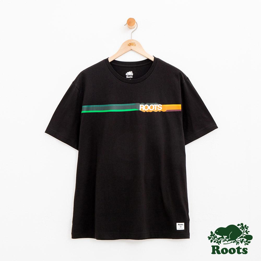 男裝Roots 波登短袖T恤-黑