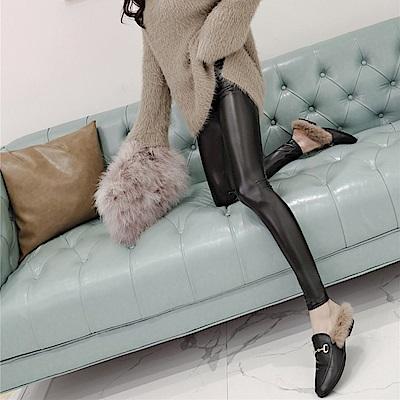 PU亮皮時髦皮褲-XL~4XL-WHATDAY