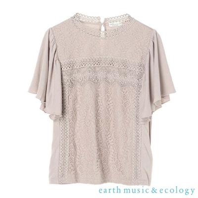 earth music 鏤空花邊蕾絲設計寬袖上衣