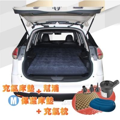 Camping Ace 快充式植絨充氣床墊_車用睡墊+保潔床包M+2用幫浦+充氣枕