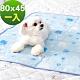 奶油獅-雪花樂園-長效型降6度涼感冰砂冰涼墊(80x45cm)中小型寵物涼墊-藍色(一入) product thumbnail 1