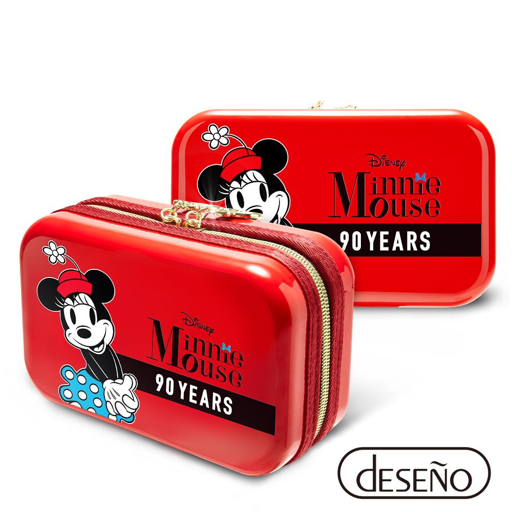 Disney 米奇系列90週年限量紀念航空硬殼包 米妮款-紅色