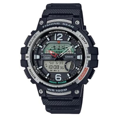 CASIO 海釣愛好者概念設計指針雙顯錶-黑(WSC-1250H-1A)/48.6mm