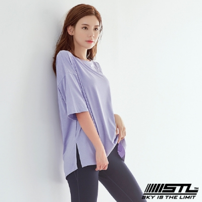 STL yoga Everyday Free SS 韓國運動機能 落肩長版短袖上衣 美日 甜美紫SweetPurple