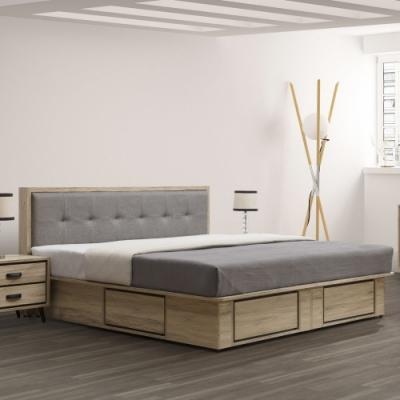 MUNA 尼諾5尺床片型床台組(不含床頭櫃)  152X204X93cm