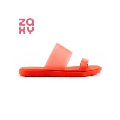 ZAXY Snap系列 半透明拖鞋-紅