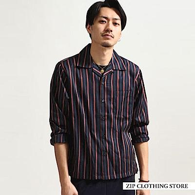 長袖開領古巴襯衫(10色) ZIP日本男裝