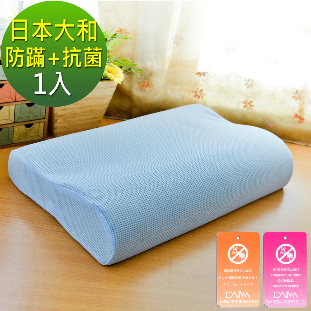 LooCa 日本大和防蹣抗菌工學記憶枕  1入