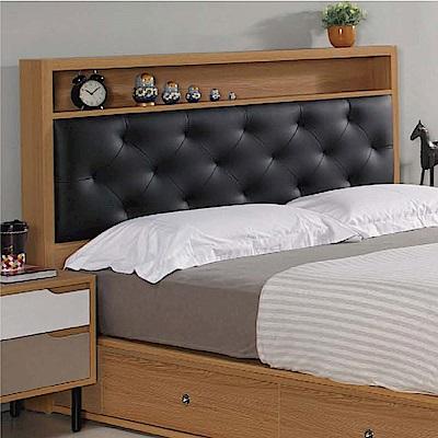 綠活居 安妮時尚5尺皮革雙人床頭片(不含床底)-152x9x114cm免組