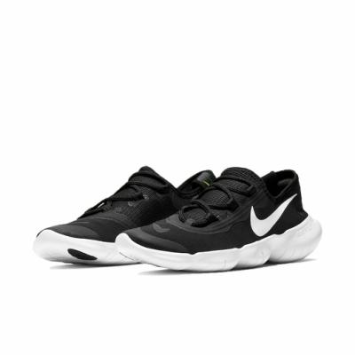 Nike 慢跑鞋 Free RN 5 0 2020 運動 女鞋 輕量 透氣 舒適 避震 赤足 健身 黑 白 CJ0270001