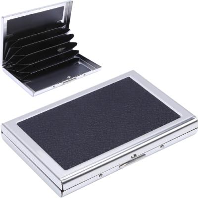 《Kinzd》皮革不鏽鋼防盜卡片收納盒