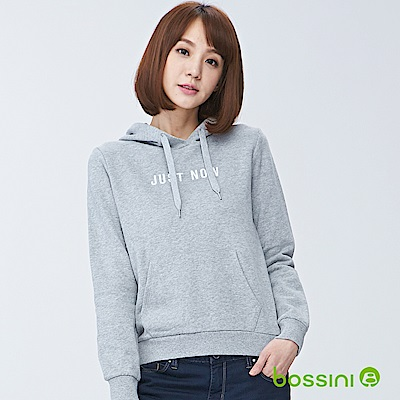 bossini女裝-連帽厚棉T恤01淺灰