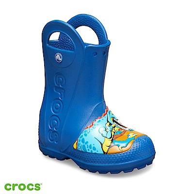 Crocs 卡駱馳 (童鞋) 趣味學院恐龍提把雨靴 205536-4GX