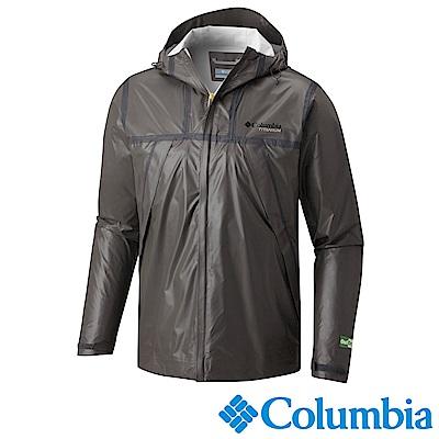 Columbia 哥倫比亞 男款-鈦 Outdry ECO連帽防水外套-深灰