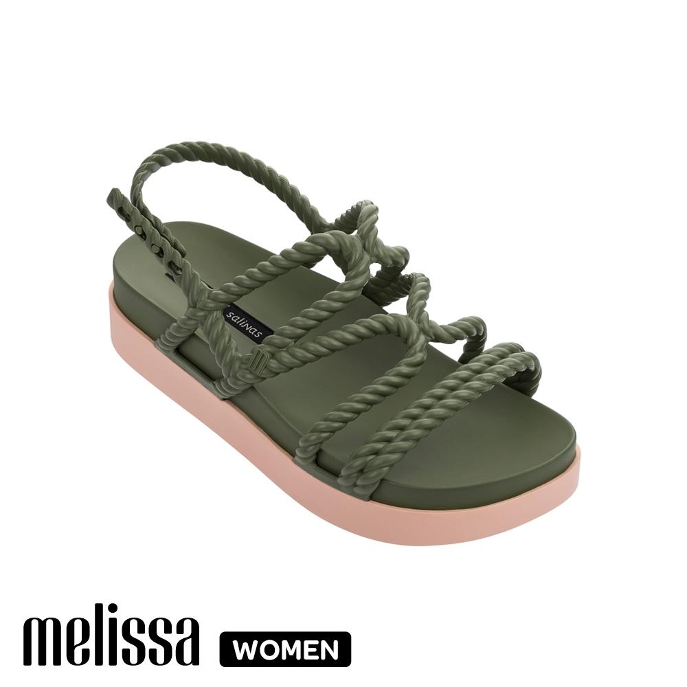 Melissa x Salinas 聯名編織繩厚底涼鞋 綠