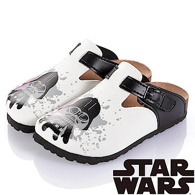 (雙11)StarWars 星際大戰-黑武士 腳床型拖鞋童鞋-白