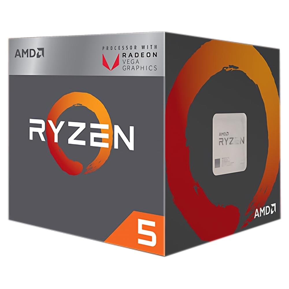 AMD Ryzen 5 2400G 四核心處理器《3.6GHz/AM4》