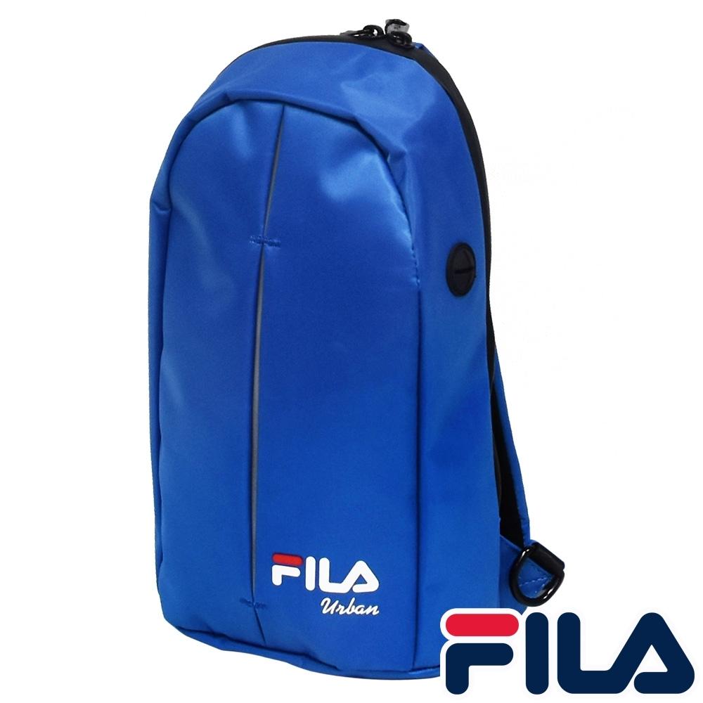 FILA 時尚單肩斜包-寶藍色