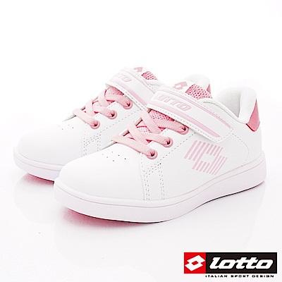 Lotto義大利運動鞋 經典網球鞋款 SI983白粉(中大童段)
