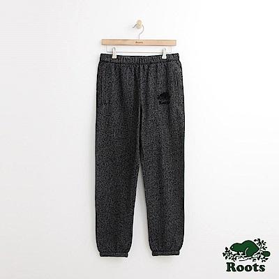 Roots 男裝-經典棉質長褲-黑