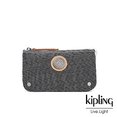 Kipling編織灰撞色配件零錢包(中)