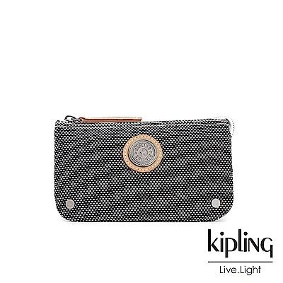 Kipling編織灰撞色三夾層配件包-CREATIVITY L-EDGELAND系列