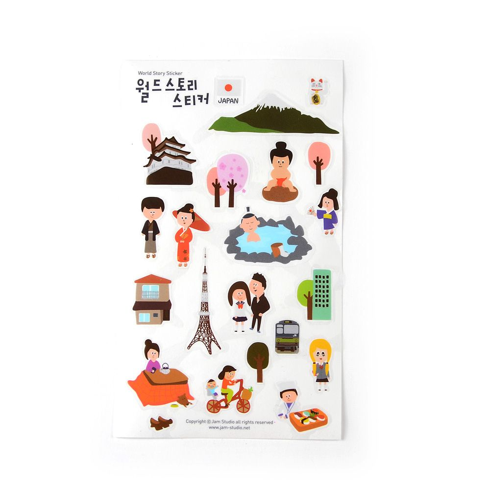 Jamstudio 世界地標旅遊貼紙-03 日本
