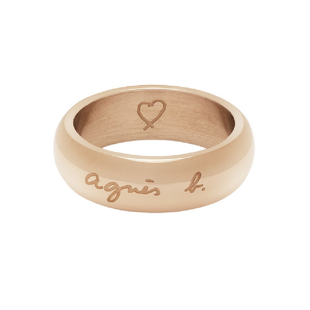 agnes b. 品牌女性戒指(玫瑰金)(情侶對戒)