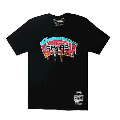 M&N NBA Dripped 短袖T恤 馬刺隊 黑