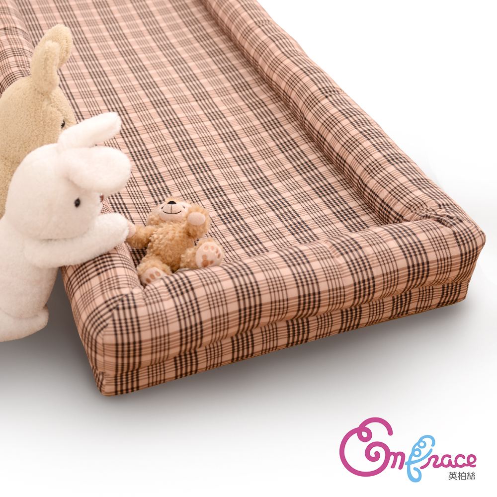Embrace英柏絲 典雅格紋-中-80x50cm寵物床 記憶床墊